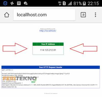 cara mengetahui ip address hp