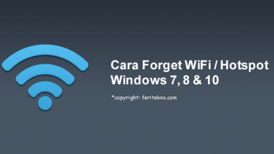 cara melupakan jaringan wifi hotspot di pc laptop windows