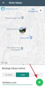 share live location di whatsapp