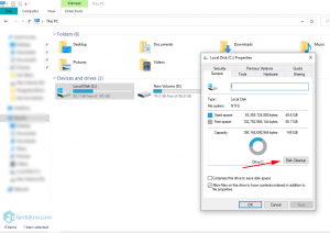 menghapus cookie di pc windows - disk cleanup